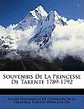 Souvenirs de La Princesse de Tarente 1789-1792