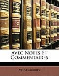 Avec Notes Et Commentaires