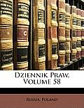 Dziennik Praw, Volume 58