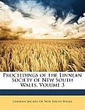 Proceedings of the Linnean Society of New South Wales, Volume 3