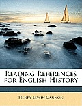 Reading References for English History