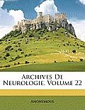 Archives de Neurologie, Volume 22