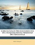 Chronologie Der Grossmeister Des Hospitalordens Whrend Der Kreuzzge
