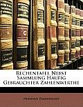 Rechentafel Nebst Sammlung Hufig Gebrauchter Zahlenwerthe
