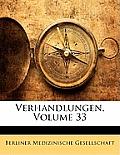 Verhandlungen, Volume 33