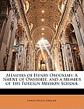 Memoirs of Henry Obookiah: A Native of Owhyhee, and a Member of the Foreign Mission School