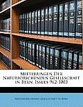 Mitteilungen Der Naturforschenden Gesellschaft in Bern, Issues 962-1003