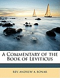 A Commentary of the Book of Leviticus