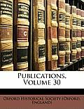 Publications, Volume 30