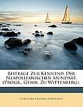 Beitrge Zur Kenntnis Der Neapolitanischen Mundart. (Progr., Gymn. Zu Wittenberg).