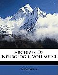 Archives de Neurologie, Volume 30