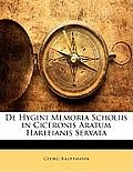 de Hygini Memoria Scholiis in Ciceronis Aratum Harleianis Servata