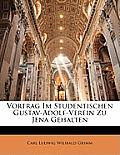 Vortrag Im Studentischen Gustav-Adolf-Verein Zu Jena Gehalten