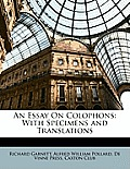 An Essay on Colophons: With Specimens and Translations