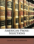 American Prose: Selections