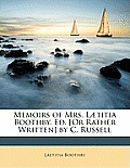 Memoirs of Mrs. L]titia Boothby. Ed. [Or Rather Written] by C. Russell