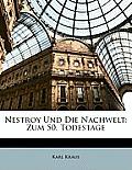 Nestroy Und Die Nachwelt: Zum 50. Todestage