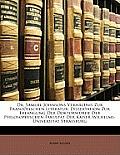 Dr. Samuel Johnsons Verhltnis Zur Franzsischen Literatur: Dissertation Zur Erlangung Der Doktorwrde Der Philosophischen Fakultt Der Kaiser-Wilhelms-Un