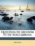 Question de Menton Et de Roccabruna