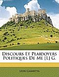 Discours Et Plaidoyers Politiques de Me [L] G.