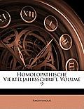 Homoeopathische Vierteljahrsschrift, Volume 9
