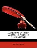 Memorial of John McCarter and His Descendants