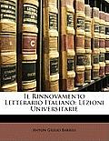 Il Rinnovamento Letterario Italiano: Lezioni Universitarie