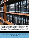 Mandements, Lettres Pastorales Et Circulaires Des Vques de Qubec, Volume 5; Volume 9