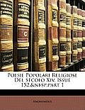 Poesie Popolari Religiose del Secolo XIV, Issue 152, Part 1