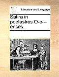 Satira in Poetastros O-C---Enses.