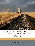 Buddenbrooks; Verfall Einer Familie / Thomas Mann