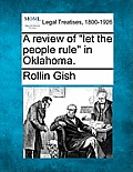 A Review of Let the People Rule in Oklahoma.