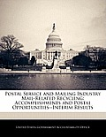 Postal Service and Mailing Industry Mail-Related Recycling: Accomplishments and Postal Opportunities--Interim Results