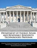 Department of Energy: Solar and Renewable Resources Technologies Program