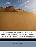 Construction Der Lage Des Herzens in Der Leiche Aus Einer Serie Von Horizontalschnitten
