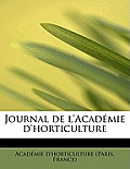 Journal de L'Acad Mie D'Horticulture