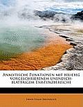 Analytische Funktionen Mit Beliebig Vorgeschriebenem Unendich-Blattrigem Existenzbereiche