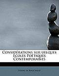 Consid Rations Sur Uelques Coles Po Tiques Contemporaines