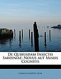 de Quibusdam Insectis Sardiniae: Novus Aut Minus Cognitis