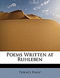 Poems Written at Ruhleben