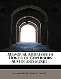 Memorial Addresses in Honor of Governors Austin and McGill
