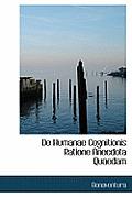 de Humanae Cognitionis Ratione Anecdota Quaedam
