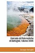 Giornale Di Matematiche Di Battaglini, Volume XXXIV