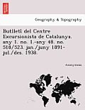 Butlleti del Centre Excursionista de Catalunya. Any 1. No. 1.-Any 48. No. 518/523. Jan./Juny 1891-Jul./Des. 1938.