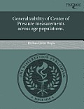 Generalizability of Center of Pressure Measurements Across Age Populations.
