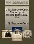 The U.S. Supreme Court Transcript of Record Barnstable