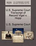 U.S. Supreme Court Transcript of Record Vigel V. Hopp