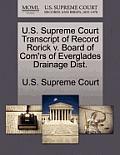 U.S. Supreme Court Transcript of Record Rorick V. Board of Com'rs of Everglades Drainage Dist.