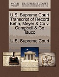 U.S. Supreme Court Transcript of Record Behn, Meyer & Co V. Campbell & Go Tauco