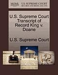 U.S. Supreme Court Transcript of Record King V. Doane